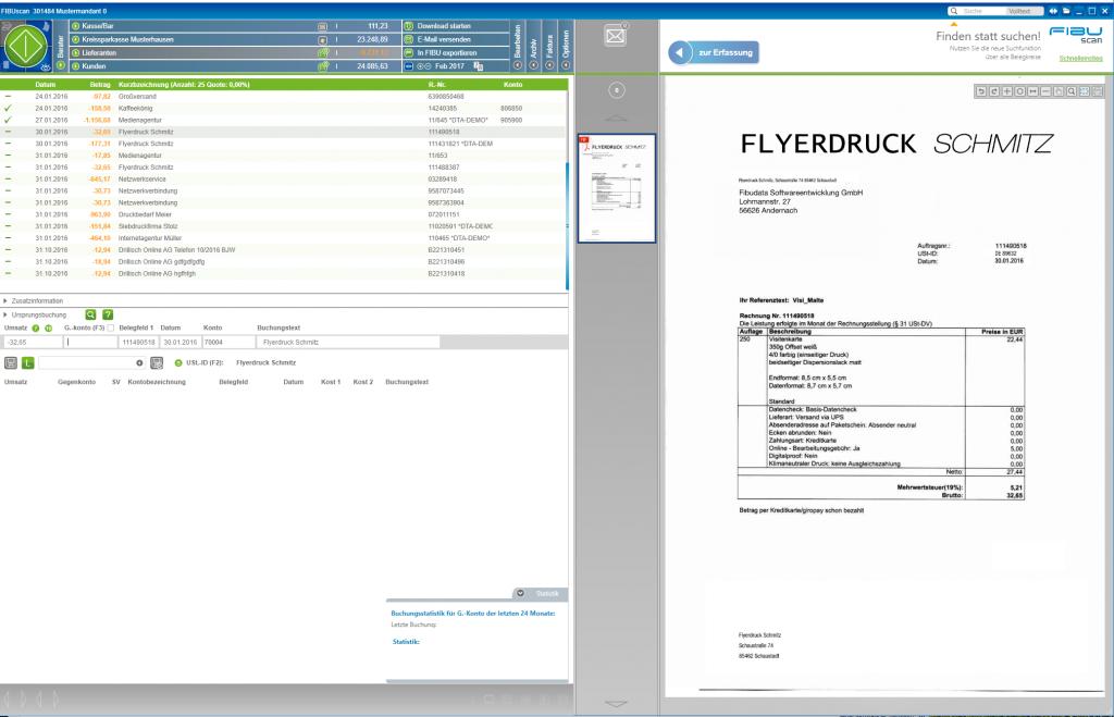 FIBUscan - Berater-Modul - Verbuchen von Eingangsrechnungen
