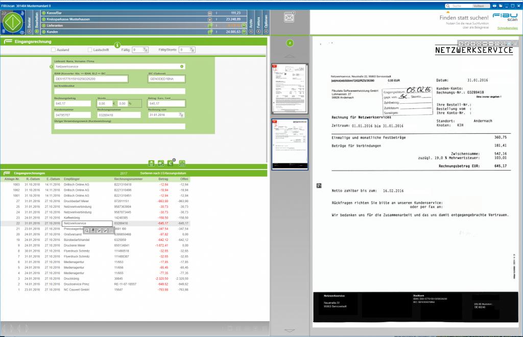 FIBUscan - Erfassung von Eingangsrechnungen / Kreditoren